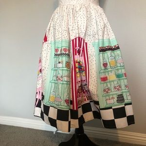 Unique Vintage candy shop skirt